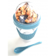 Muesli Yoghurt beker blauw