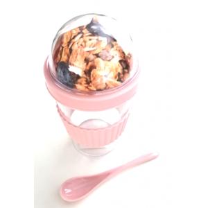 Muesli Yoghurt beker roze