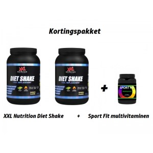 2x XXL NUTRITION DIET SHAKE + Sport Fit Multivitaminen